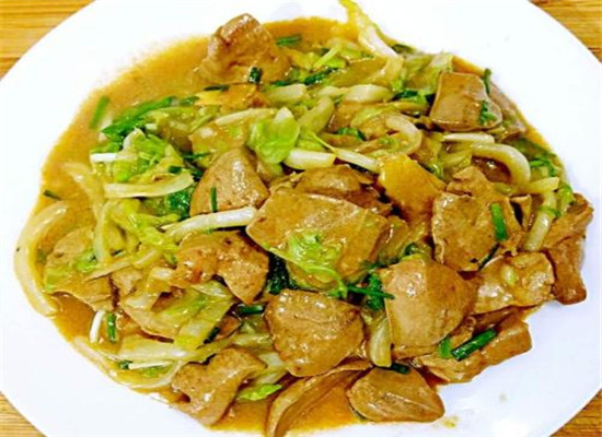 白菜炒猪肝怎么做