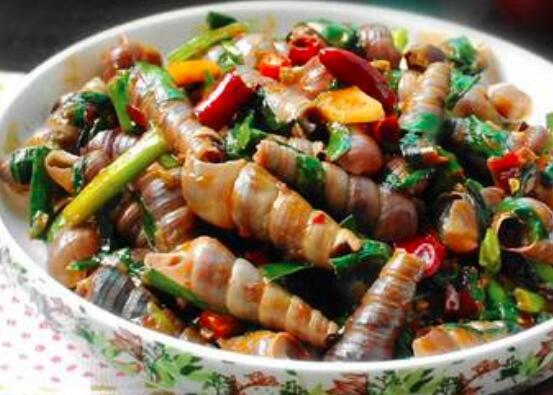 如何用沙司炒海螺