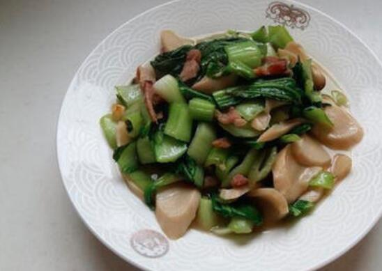 杏鲍菇和青菜怎么炒